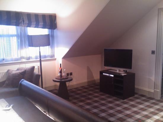 Malmaison Aberdeen: Top floor room - TV