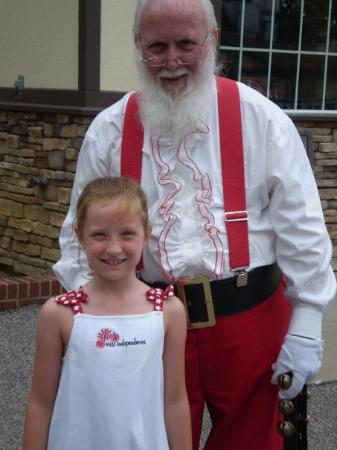 Holiday World & Splashin' Safari: Maddie with Santa