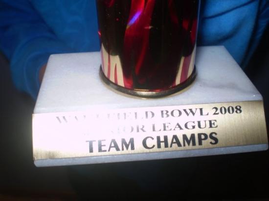 Wakefield, NE: boys bowling trophy