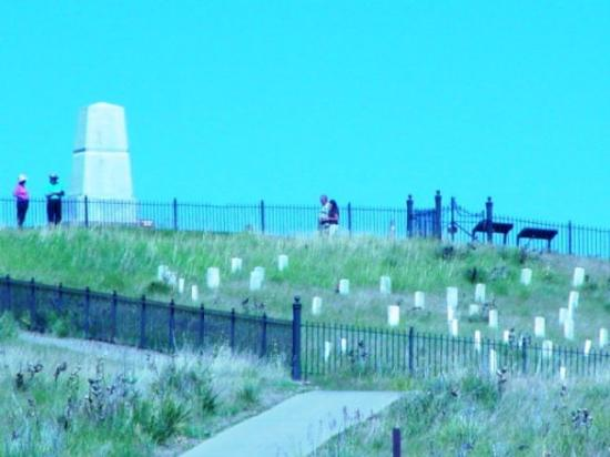 Memorial at the Little Bighorn Battle site