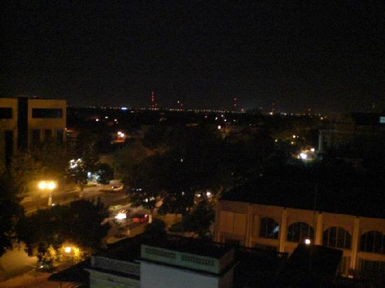 Montejo Palace: nighttime view from our balcony