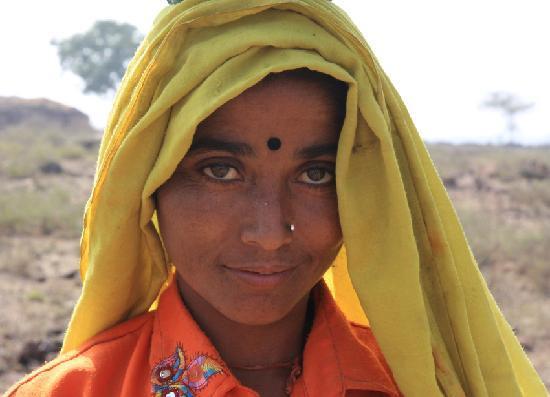 Karauli, India: local village lady