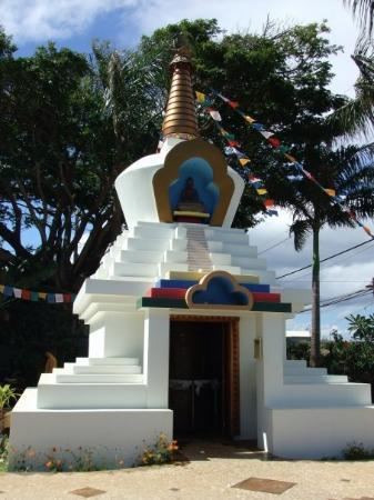 Paia, ฮาวาย: Outside of the stupa