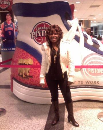 Palace of Auburn Hills: at a pistons game