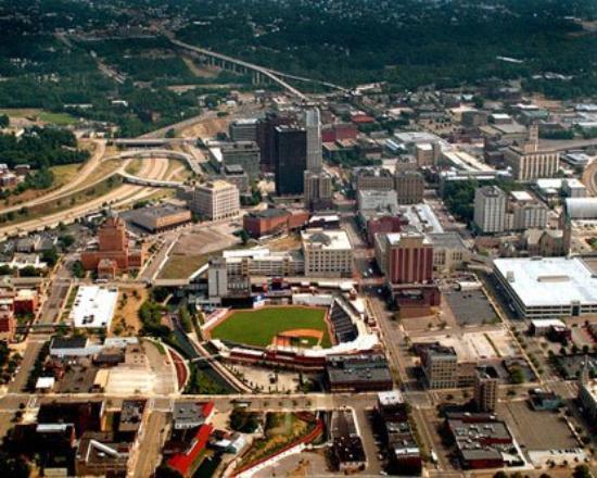 aerial view of Akron Ohio
