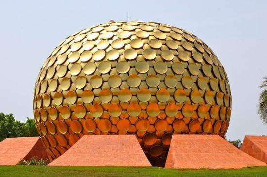 Pondicherry, India: Beautiful and stunning Matri mandir--and our own private time in there
