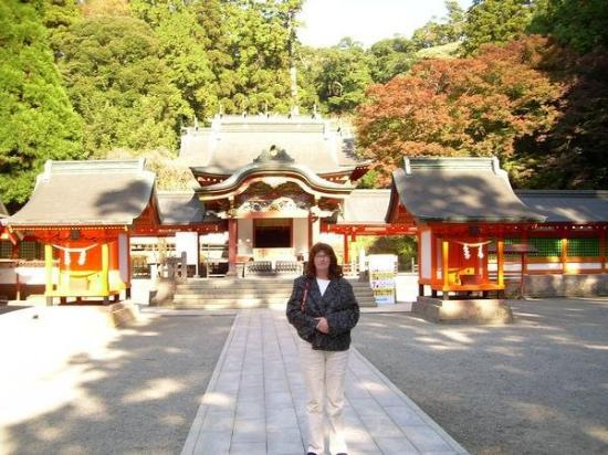 Kagoshima, Japan: Me in front of the shrine/temple