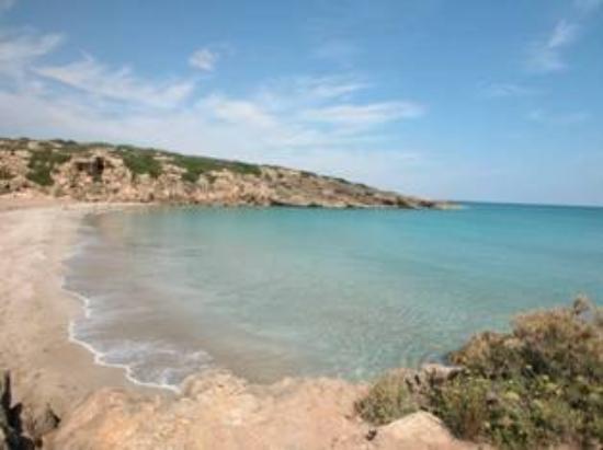 Noto, Italien: spiaggia di Calamosca