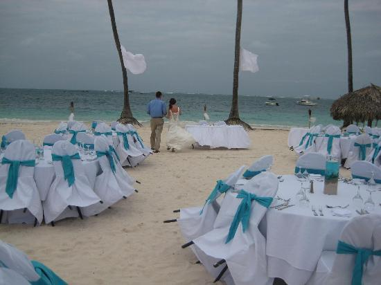Dreams Palm Beach Punta Cana Dinner Setup For Wedding