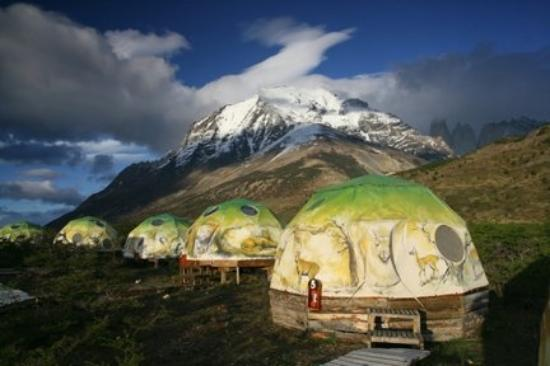 Ecocamp Patagonia: This is the eco camp where we stayed at Torre del Paine, an International World Biosphere.