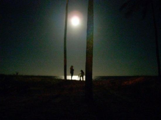 Canavieiras, BA: full moon at the beach