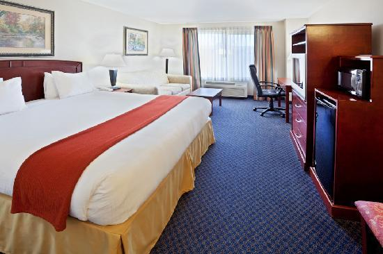 Holiday Inn Express: Our comfortable beds (complete with their crisp white linens and pillow selection) make you want