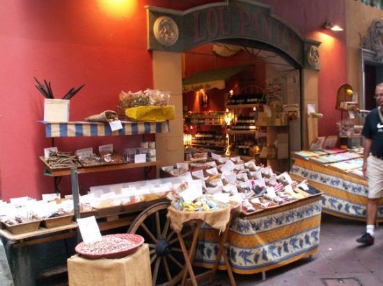 Old Town (Vieille Ville): Cute spices and herbs store in old town Nice.