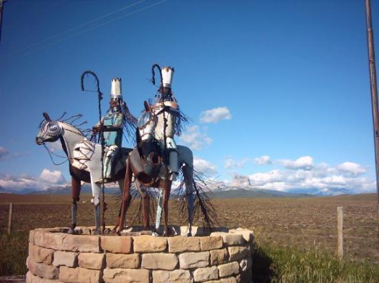 Cut Bank, MT: Blackfoot Reservation at international border
