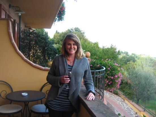 Casa Lari Relais: our balcony at Casa Lari