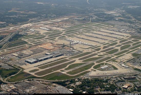 Atlanta Hartsfield International Airport Aerial View
