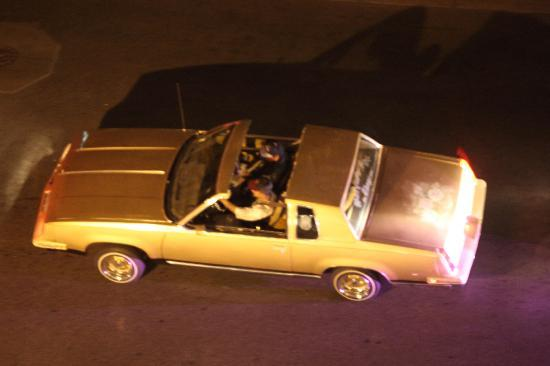 "Hotel Andaluz : ""Low rider drives a little slower"" Cruiser surrond the hotel on Saturday night"