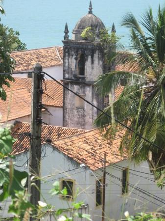 Olinda, PE: torre e telhados da Igreja de São Francisco