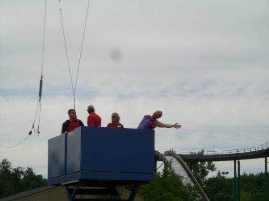 Michigan's Adventure: On the platform for the RipCord