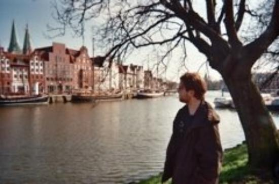 19 - on the path from my apartment to the McNally Smith College of Music in Lübeck, Germany. Spe