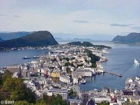 Alesund, Norway on the western coast
