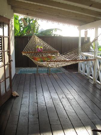 Ti Kaye Resort & Spa: The personal pool and hammock.
