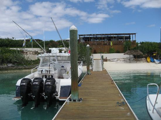 St Francis Resort: The dock and Restaurant