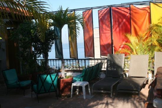 Villa David: patio