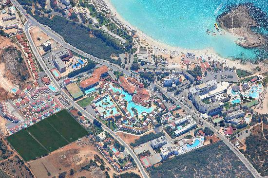 Atlantica Aeneas Hotel: Aerial Photo of Atlantica Aeneas Ayia Napa