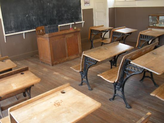 Fredericksburg, TX: inside of school house