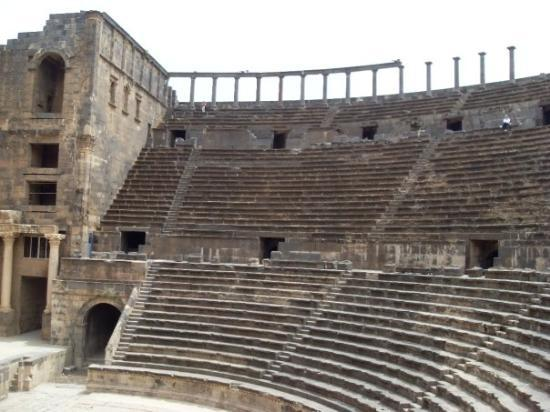the theatre in Bosra, from the side
