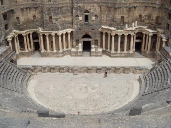 the theatre in Bosra, from the top