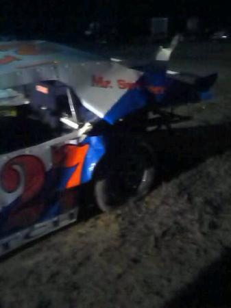 Plymouth, IL: Roberts car after the races