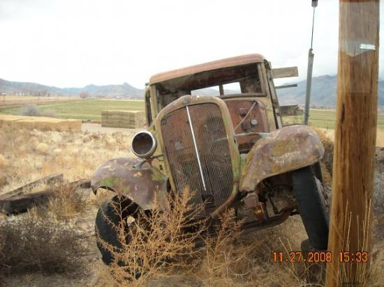 "Yerington, NV: This old Ford truck was in the desert right where someone left it.  ""The Grapes of Wrath?"""