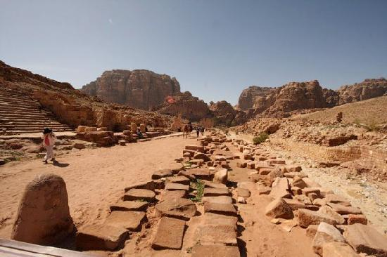 Petra verdensarvsted: the roman road