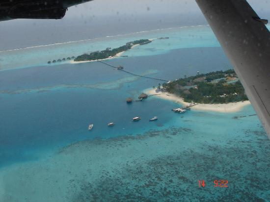 Conrad Maldives Rangali Island: View from the air