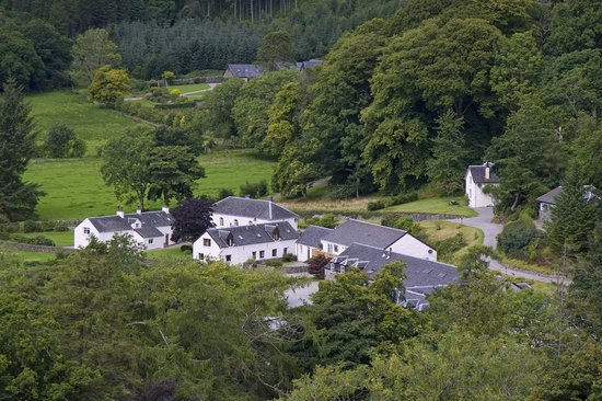 Melfort Village, nestled in the hills at the head of Loch Melfort