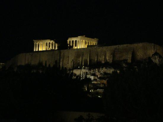 The Athens Gate Hotel: The Acropolis from the restaurant