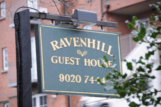 Ravenhill Guesthouse: B&B sign