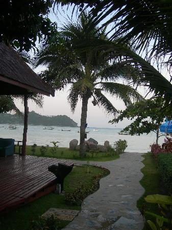 Starlight Resort: Reception's view to the beach