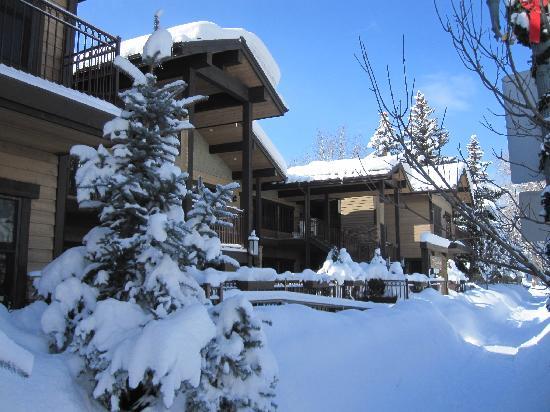 The Innsbruck: Vue de l'hotel apres un jour de neige