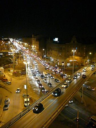 Hotel Hungaria City Center: Night view from our room