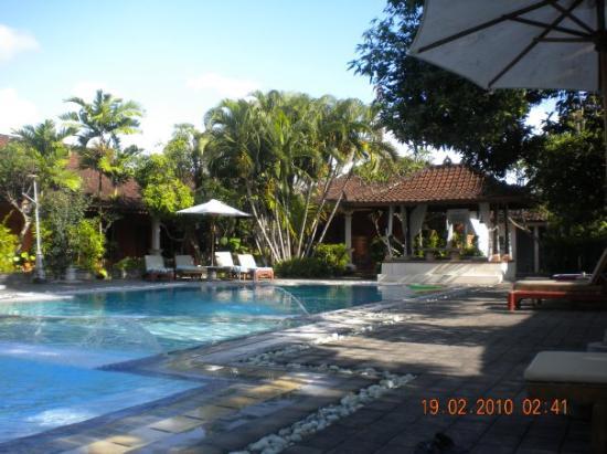 Bumi Ayu Bungalows: poolen på hotellet.. dejligt