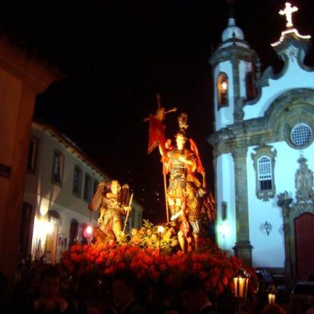 Sao Joao del Rei, MG: Procissão de São Miguel Arcanjo 1 [Saint Michael Procession] in São João del-Rei, Minas Gerais S