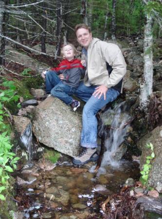 Bar Harbor, ME: Mike and James hiking Acadia