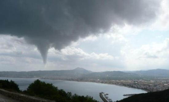 water spout in Javea, port