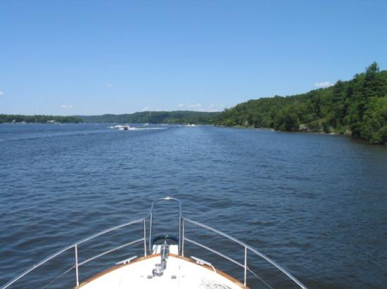 Essex, CT: One mile to Hamburg Cove entrance on the starboard (right)