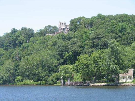 Essex, CT: North of Hamburg on the CT River, a view of Gillette Castle