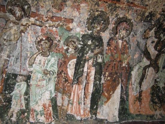 Cappadocia Cave Dwellings : Ancient mural.
