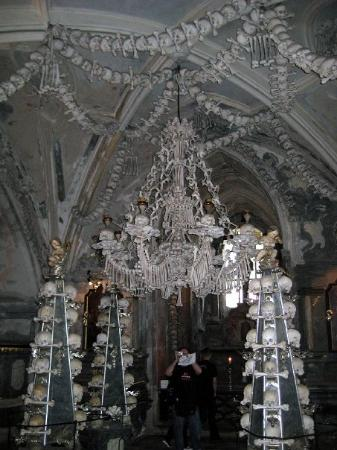 A human bone chandelier really human bones made into a chandelier ossuary the cemetery church a human bone chandelier really human bones made aloadofball